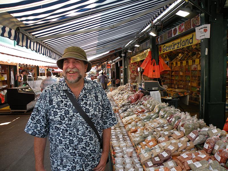 Mercado Central de Viena,  Áustria, uma pesquisa sobre temperos