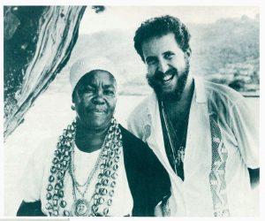 Raul Lody com Maria de Oxum, Cachoeira, Bahia, 1980